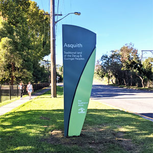 Asquith suburb sign
