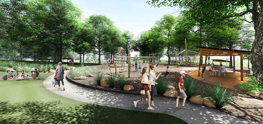 Westleigh Park playground concept