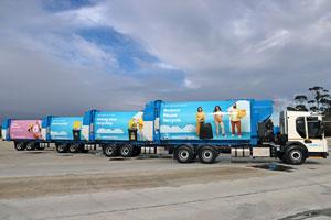 New waste trucks