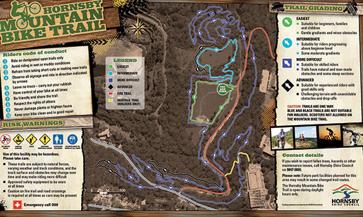 Hornsby Mountain Bike trail map