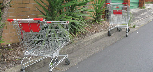 Abandoned shopping trolleys