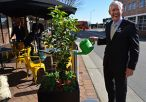 Mayor and West Side planter boxes