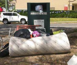 Dumping around clothing bins