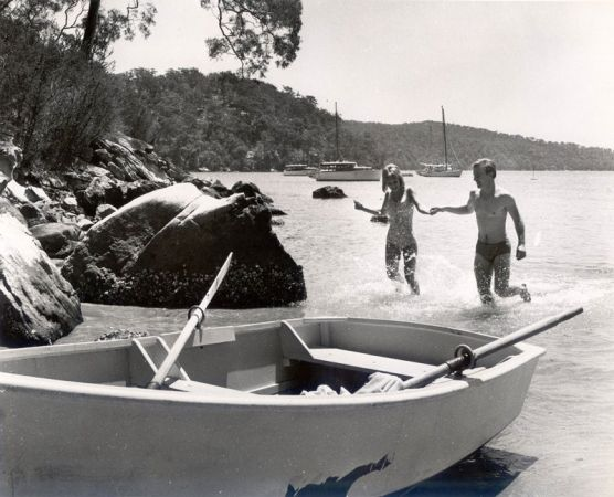 Boating area near Bobbin Head, c. 1970 (Source: Hornsby Shire Recollects).