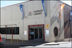 Photograph of the exterior of Hornsby Library as of August 2017