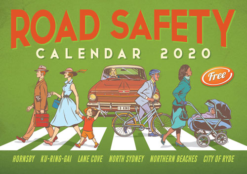 Road Safety Calendar 2020 cover