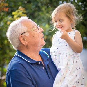 grandparent and child