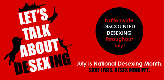National Desexing Month