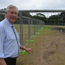 Mayor at cricket oval