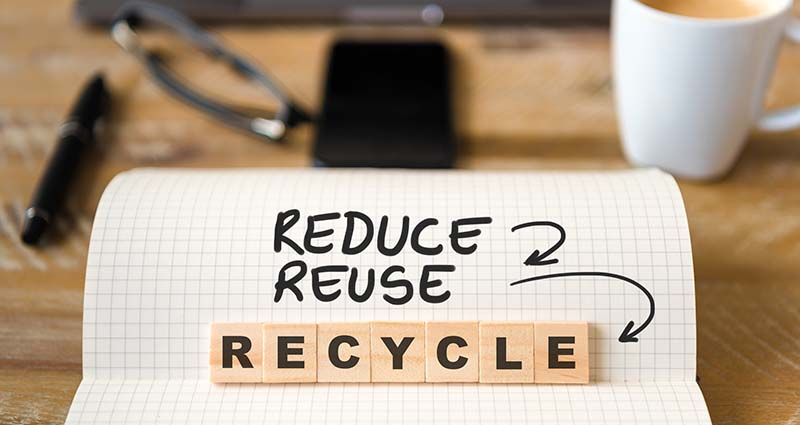 Waste minimisation - reduce, reuse, recycle