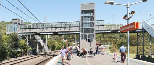 Hawkesbury River train station artists impression
