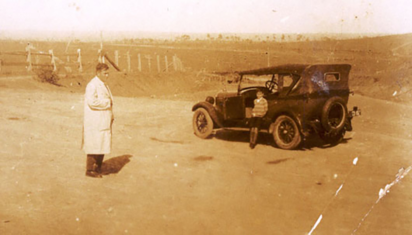 Walter Hazlewood with car