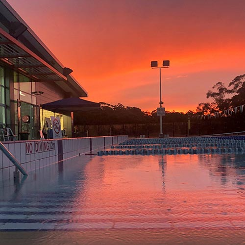 hornsby pool sunset
