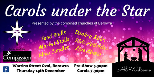 carols under the star presented by the combined churches of Berowra