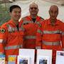 Detail from a photograph of NSW SES volunteers