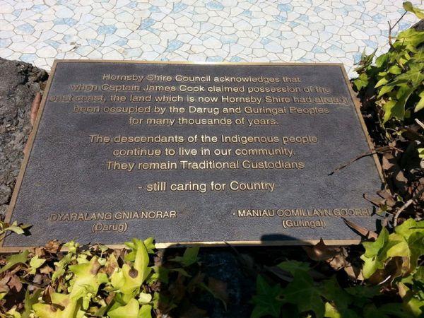 Hornsby Park Plaque