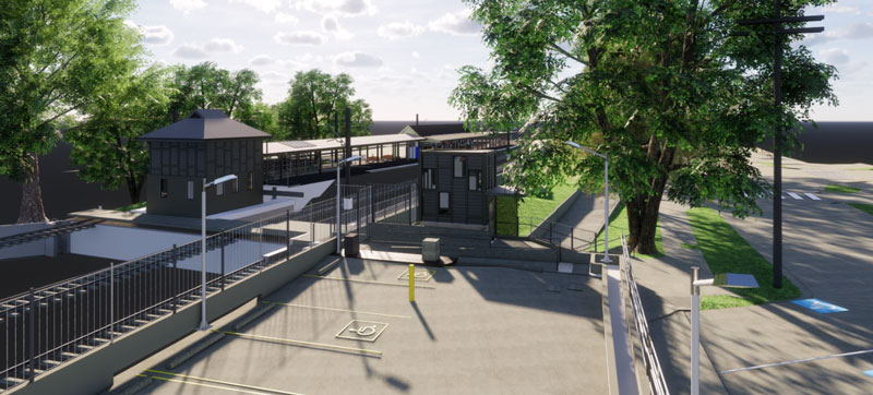 Artist's impression of the new lift location looking from Wongala Crescent, subject to detailed design