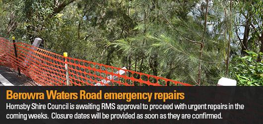Berowra waters emergency repairs