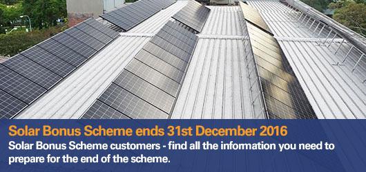 End Of Solar Bonus Scheme
