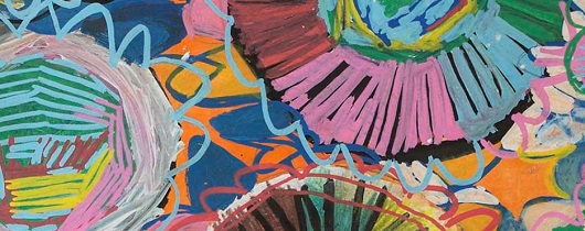 Detail from the painting Wildflower by Rachelle Rodriquez. Photograph by Christopher Haysom