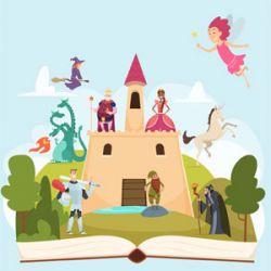 fairy castle cartoon