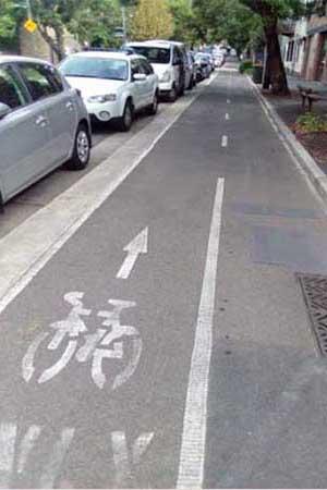 On Road Bike Path