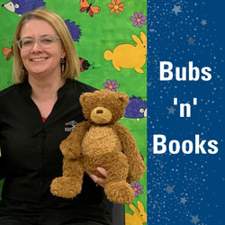 Bubs 'n' books - Penny and teddy