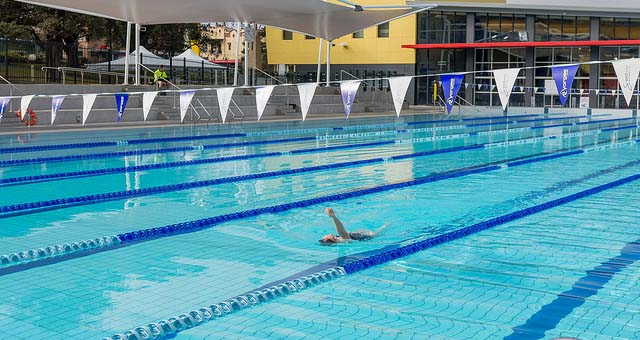 swimmer at Hornsby Aquatic Centre
