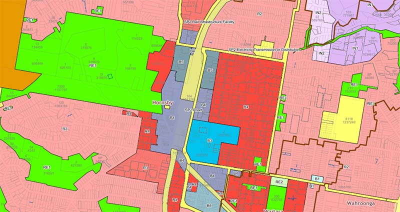 hornsby town centre zoning map