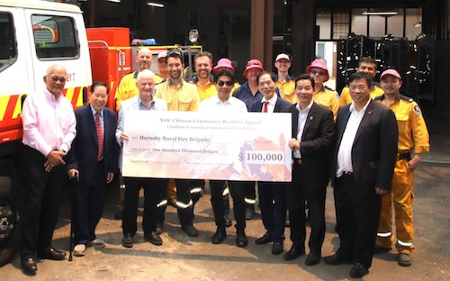 Chinese Community Donates to Hornsby Bushfire Brigade
