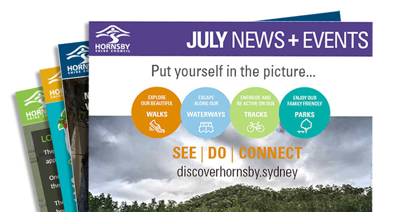 Hornsby Shire Council eNews Banner