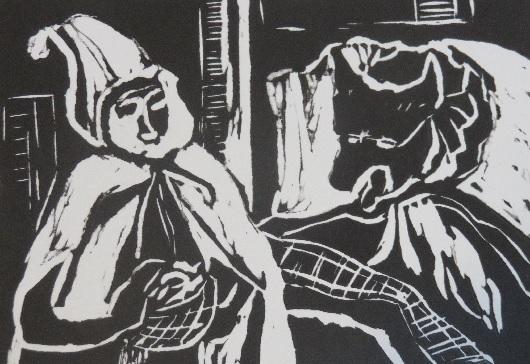 Detail from Little Red Riding Hood by Vivian Christensen