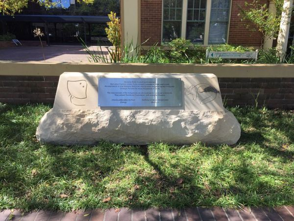 Indigenous Park Plaque 2020 - Hornsby Shire Council