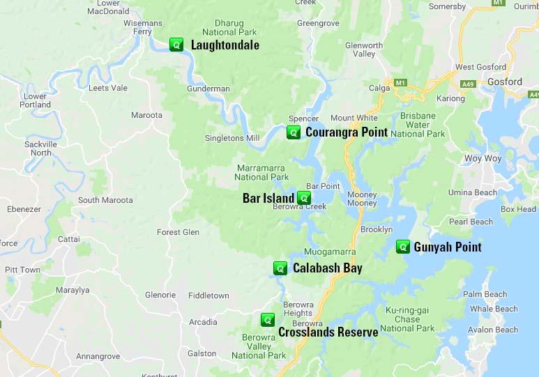 Hawkesbury Watch Locations