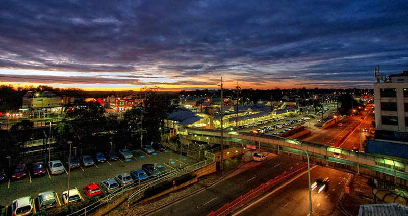 Hornsby Station Sunset by James Cook