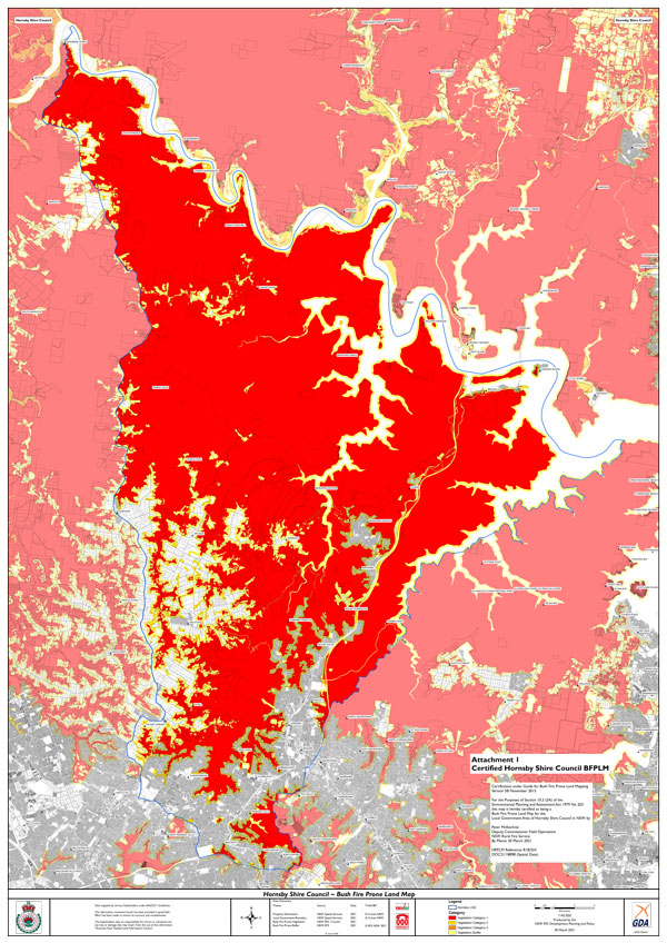 Bushfire Prone Land Map 2021