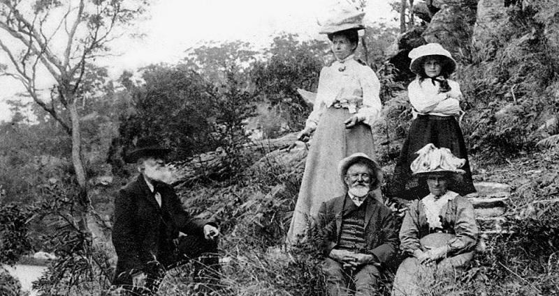 Photograph of a family picnic at Bobbin Head 1909