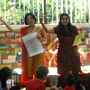 Photograph of bilingual storytime session