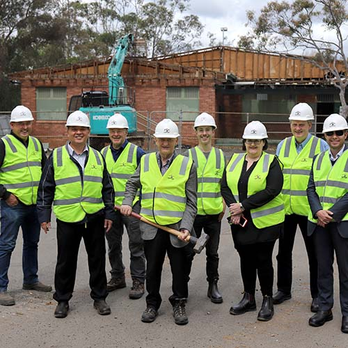 Work begins at Storey Park