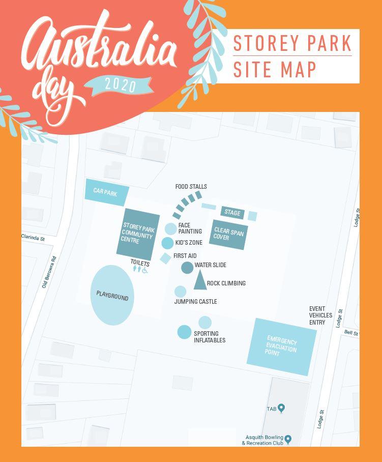 Australia Day site map
