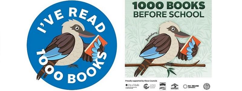 Logos from the 1000 Books Before School Program