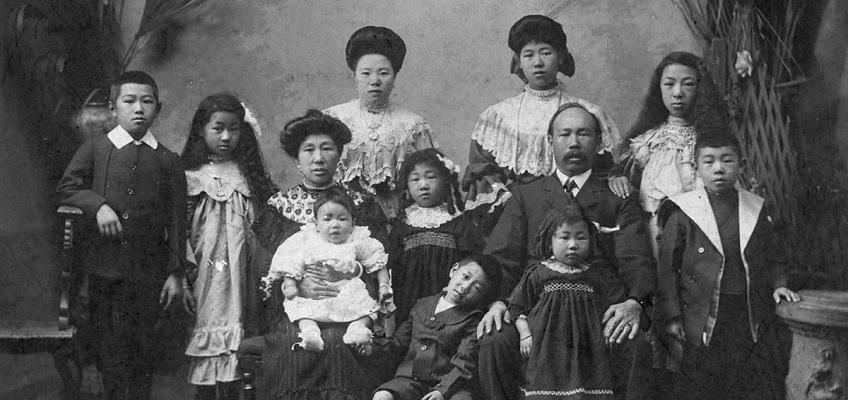 Photograph of an Asian Australian Family circa 1890